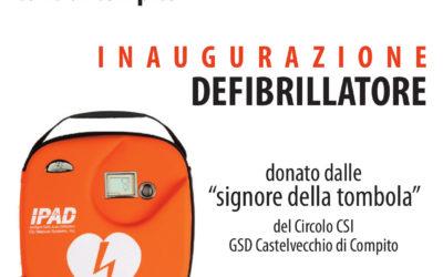 Domenica 8 ottobre alla chiesa di Colle di Compito si inaugura un defibrillatore