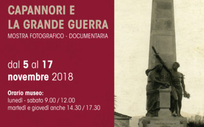 """Dal 5 al 17 novembre mostra fotografica-documentaria """"Capannori e la grande guerra"""" al museo Athena"""