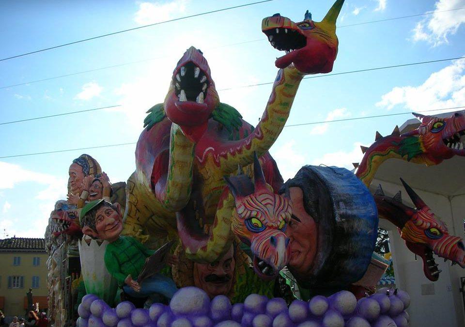 Domenica 10 febbraio inizia il carnevale a Marlia con il ritorno dei carri in cartapesta