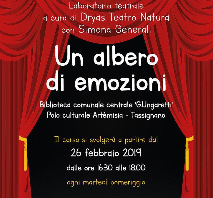"""Al via il 26 febbraio il corso di teatro per bambini """"Un albero di emozioni"""""""