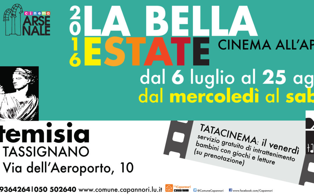 La bella estate 2016 – cinema all'aperto – Programma