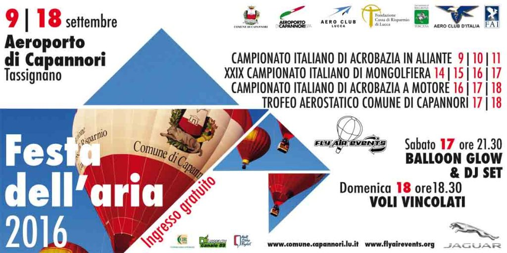 Festa dell'Aria 2016: Save the Date!