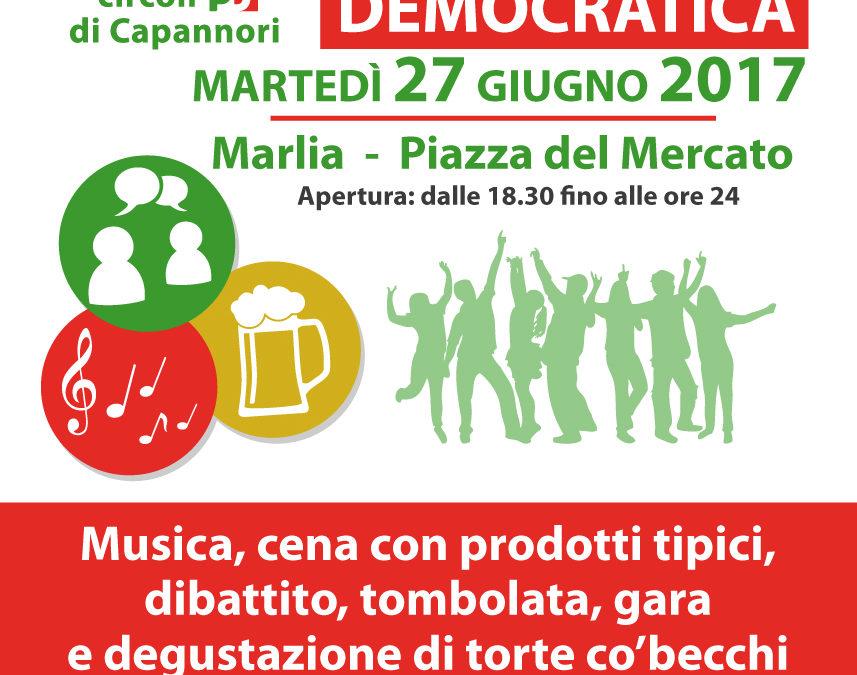 Martedì 27 giugno Festa Democratica