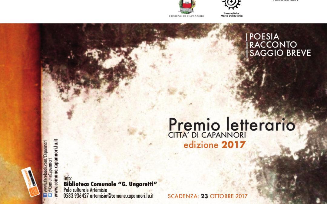 Premio letterario Città di Capannori, in palio premi fino a 500 euro