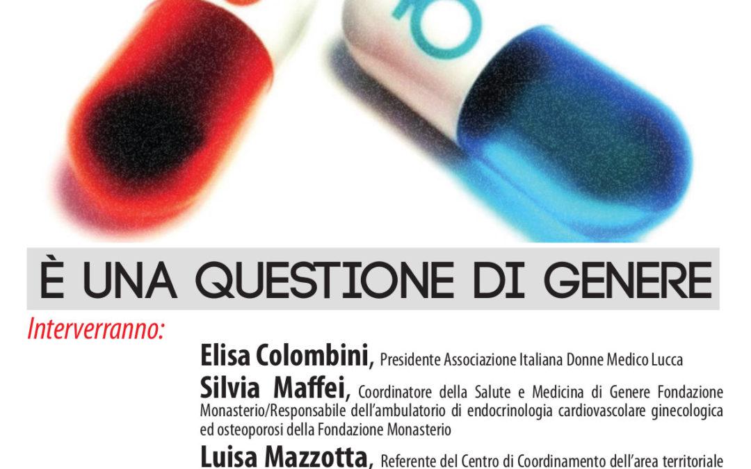 """Giovedì 30 novembre a Capannori l'incontro """"La salute è una questione di genere"""""""