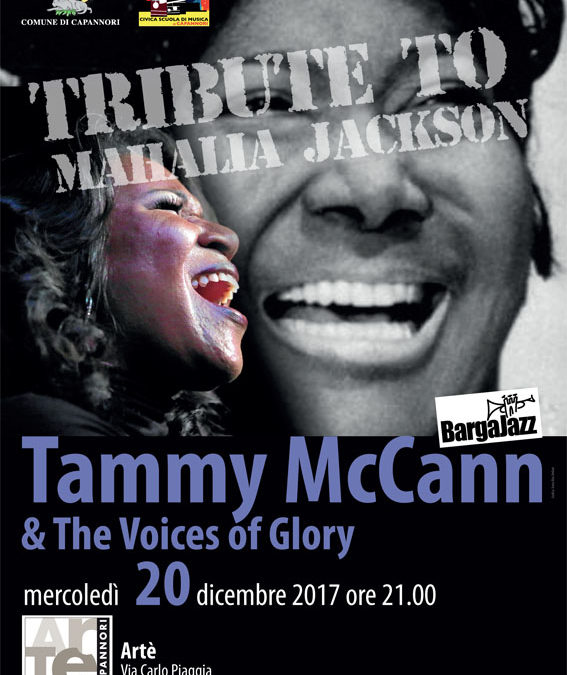 "Mercoledì 20 dicembre concerto ""Tribute to Mahalia Jackson"""