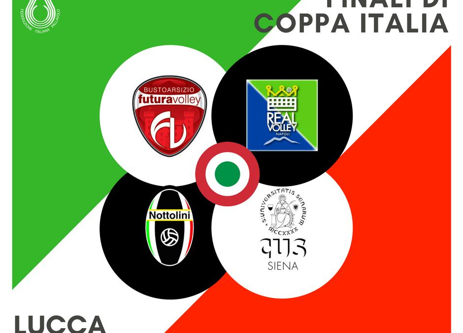 La Pallavolo Nottolini Capannori organizzerà la Final Four di Coppa Italia Serie B Femminile. Appuntamento il 30 e il 31 marzo al Palatagliate