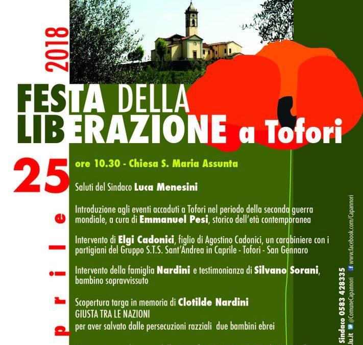 A Tofori si celebra la 73° Festa della Liberazione