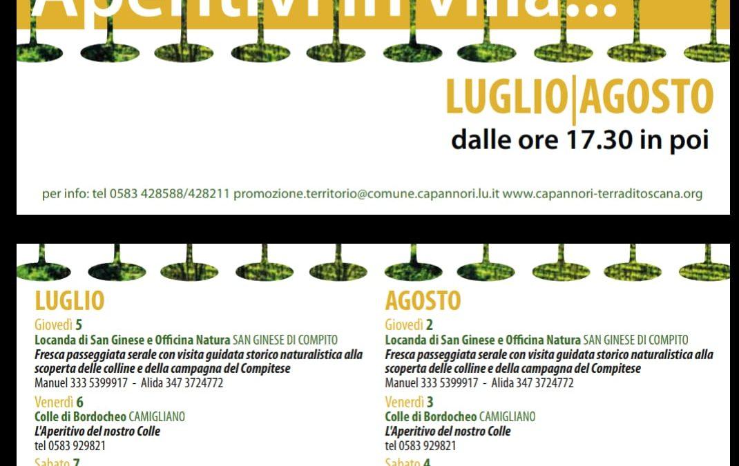 Aperitivi in Villa Luglio e Agosto 2018