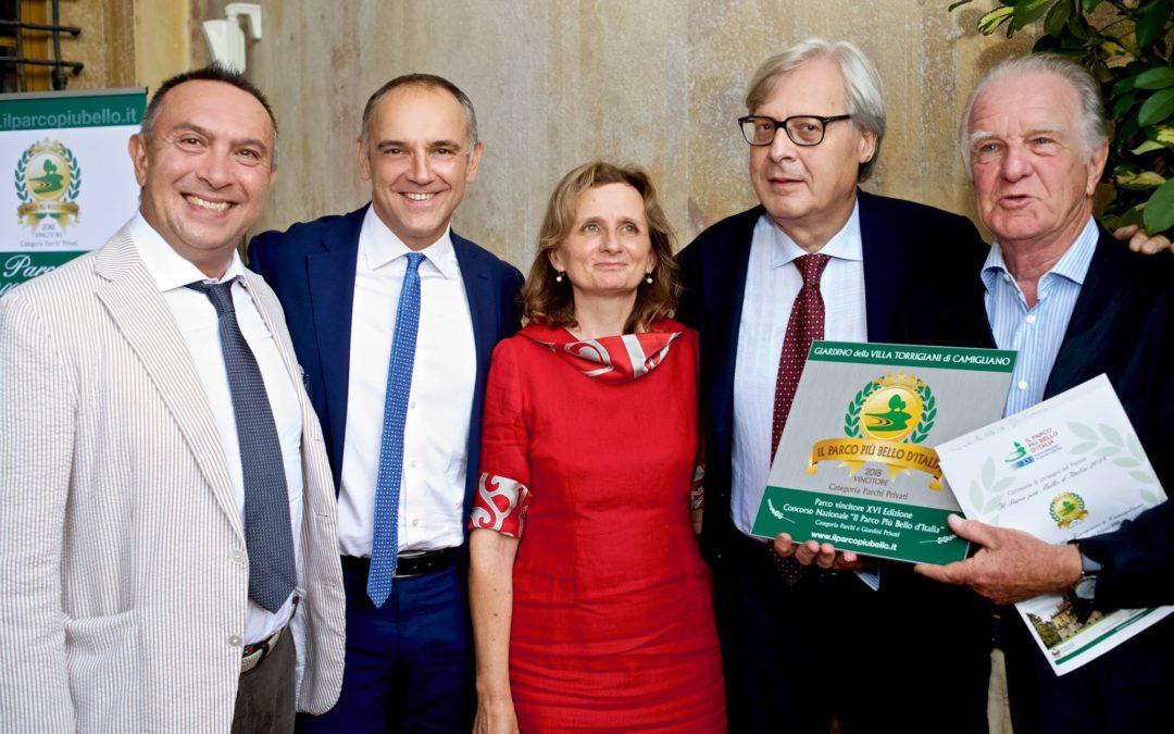 Consegna del premio a Villa Torrigiani per il parco privato più bello d'Italia