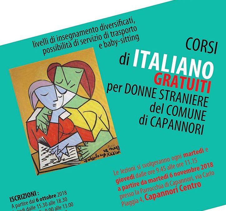 APERTE FINO AL 30 OTTOBRE LE ISCRIZIONI AI CORSI DI ITALIANO GRATUITI PER DONNE STRANIERE