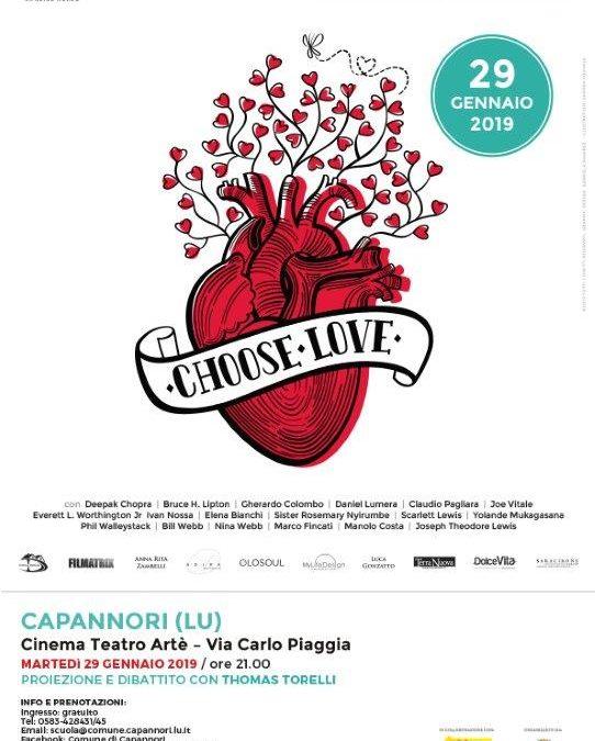 Martedì 29 gennaio ad Artè la proiezione del docu-film 'Choose Love' di Thomas Torelli
