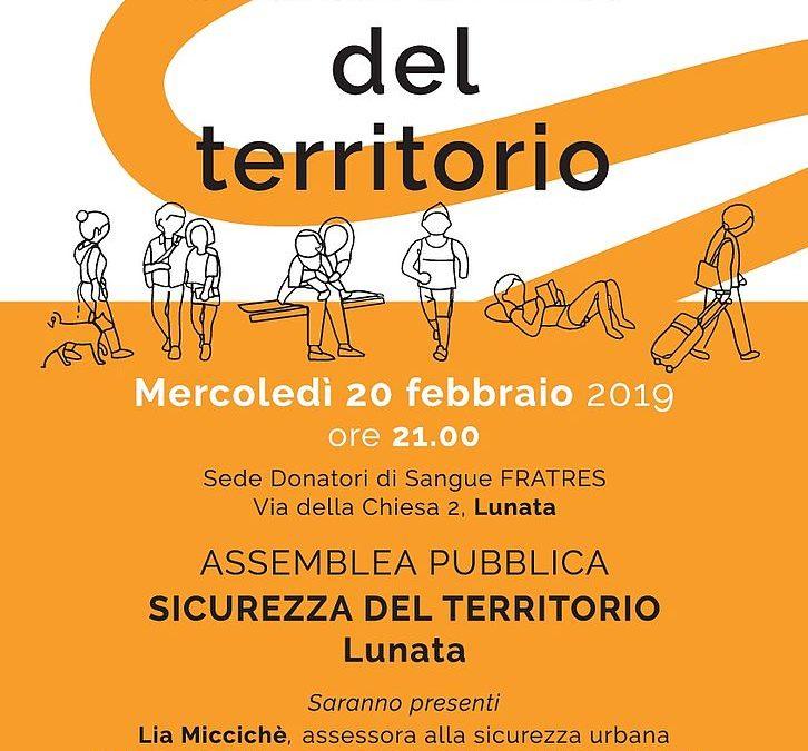 Mercoledì 20 febbraio assemblea pubblica sulla sicurezza del territorio a Lunata