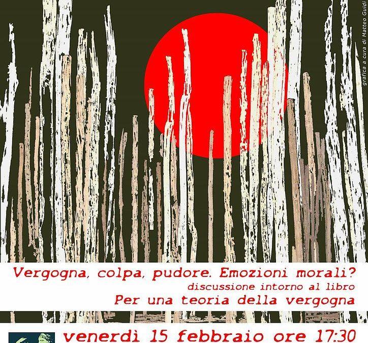 """""""Vergogna, colpa, pudore. Emozioni morali?"""" Venerdì 15 febbraio se ne parla ad Artémisia con Alessandra Fussi"""