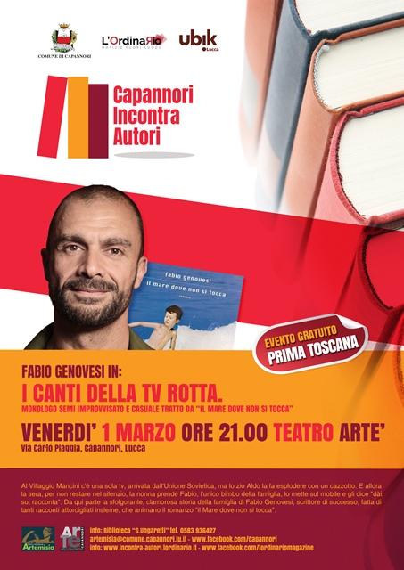 Venerdì 1 marzo ad Artè Fabio Genovesi I CANTI DELLA TV ROTTA