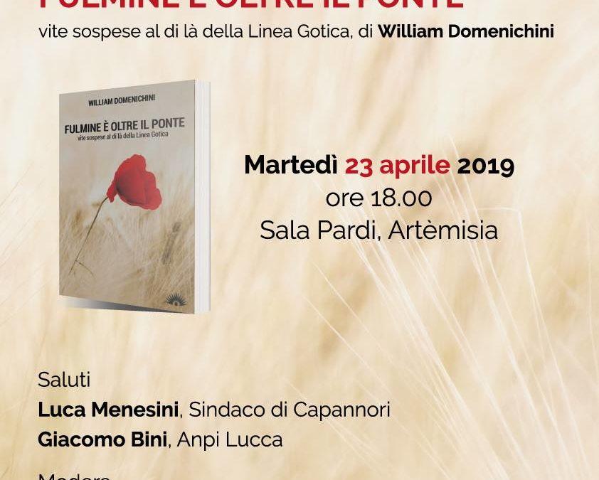 """Martedì 23 aprile presentazione del libro """"Fulmine oltre il ponte"""""""