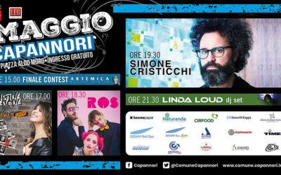 Concerto Primo Maggio 2019 a Capannori: Simone Cristicchi, Cristina D'Avena, Linda Loud, Artemica