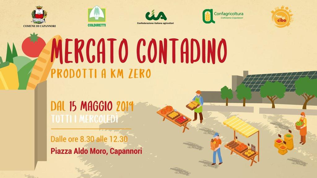 Da mercoledì 15 maggio piazza Aldo Moro ospiterà un mercato contadino di filiera corta