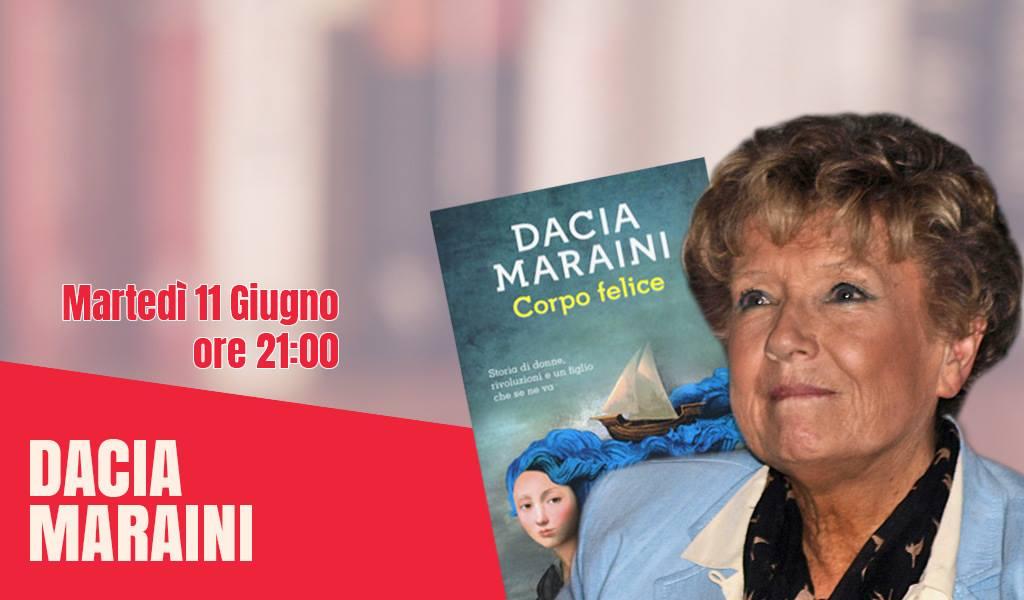 Martedì 11 giugno Dacia Maraini ad Artè