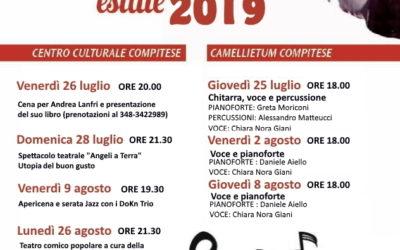 'Al centro della scena':teatro e musica al Centro Culturale Compitese e al Camellietum