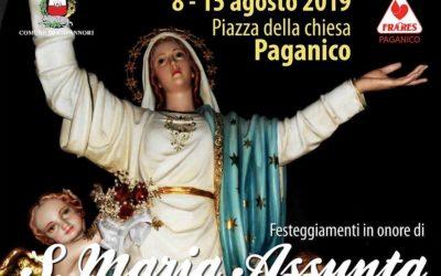 Dall'8 al 15 agosto a Paganico i festeggiamenti in onore di Santa Maria Assunta patrona del paese