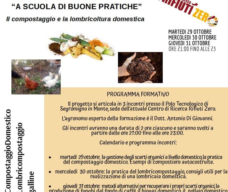 Martedì 29 ottobre il compostaggio domestico è al centro di tre incontri al Parco scientifico di Segromigno in Monte