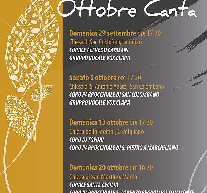 'Ottobre Canta':al via il 29 settembre la nuova rassegna di musica sacra