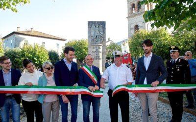 Grande partecipazione all'inaugurazione del rinnovato Parco della Rimembranza di Colle di Compito