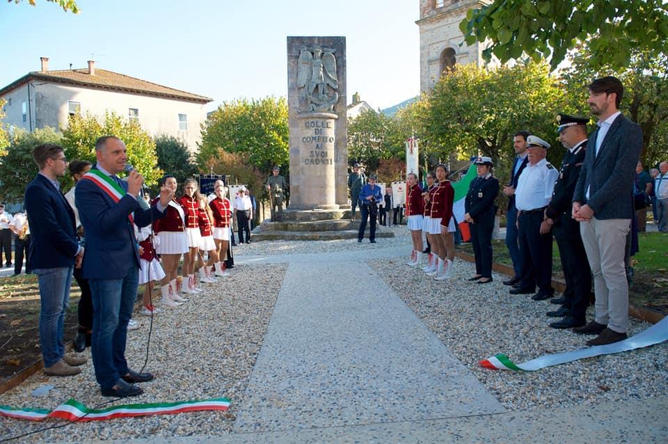 Inaugurazione del rinnovato Parco della Rimembranza a Colle di Compito-LE FOTO