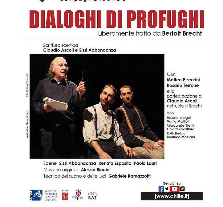 Mercoledì 30 ottobre ad Artè va in scena 'Dialoghi di profughi' spettacolo liberamente tratto dall'omonimo testo di Bertolt Brecht