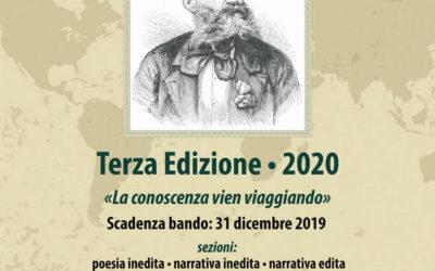 """Terza edizione 2020 Premio Letterario Nazionale Carlo Piaggia """"La conoscenza vien viaggiando"""""""